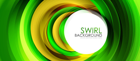 Spiral swirl flowing lines 3d effect abstract background.