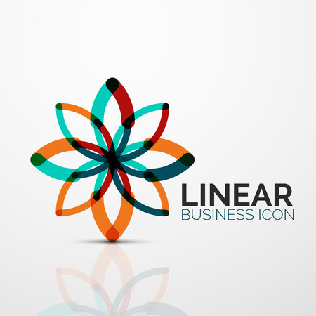 Abstract geometric linear business icon illustration