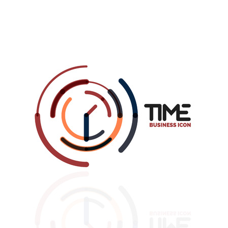 Vector abstract icon idea, time concept or clock business icon. Creative icon design template Illustration