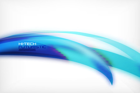 Glossy wave vector background 向量圖像