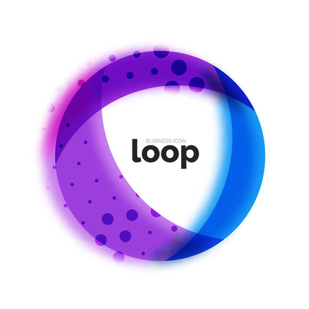 Loop circle business icon Illustration