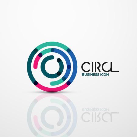 Abstract swirl lines symbol, circle icon