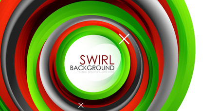 Spiral swirl flowing colored lines vector abstract backdrop