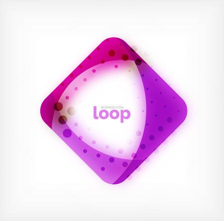 Vector square loop business symbol