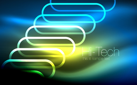 Glowing ellipses background
