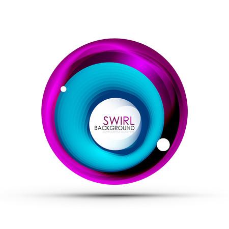 Spiral swirl flowing lines 3d vector abstract digital motion background design. Rotating concept. Ilustração