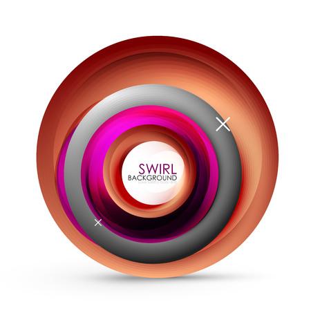 Spiral swirl flowing lines 3d  abstract background. Ilustração