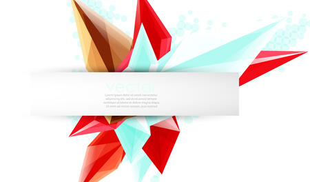 Colorful blooming crystals abstract design for template Illustration