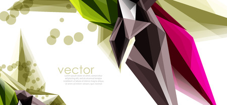 Colorful blooming crystals abstract design for brochure Illustration