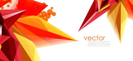 Color glass crystals  for brochure design