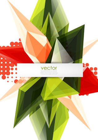 Colorful blooming crystals vector abstract background Illustration