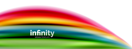 Flowing fluid colors vector, blurred colorful 3d gel shape on white. Vector illustration