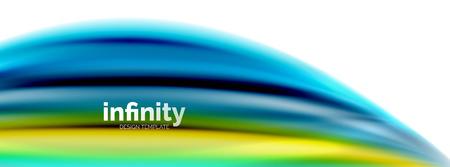 Flowing fluid colors vector Ilustração