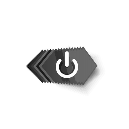 Start power button, ui icon design, on off symbol Illustration