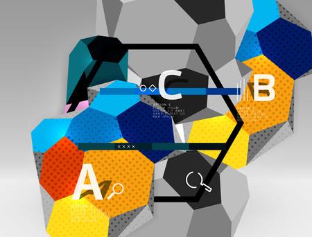Hexagon geometric composition template design