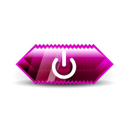 Start power button, ui icon design, on off application symbol Illustration