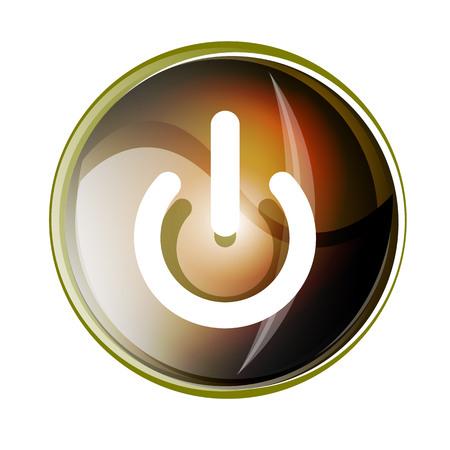 Power button icon, start symbol, vector illustration Illustration