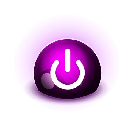 Power button icon, start symbol, vector illustration
