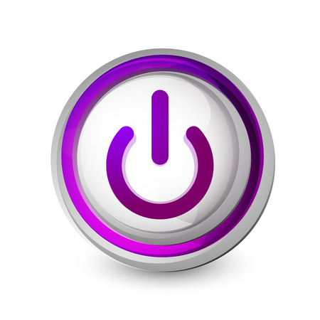 Power button icon, start symbol Illustration