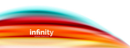 Flowing fluid colors vector, blurred colorful 3d gel shape on white