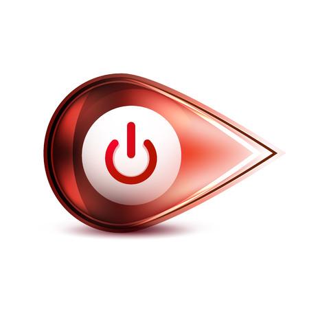 Power button icon, start symbol Vector illustration.