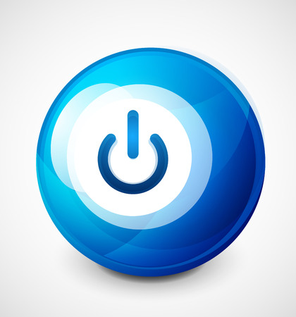 Start power sphere button, ui icon design, on off symbol Фото со стока - 100338574