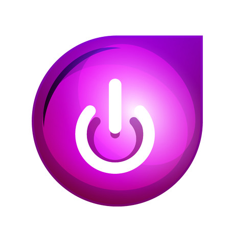 Power button icon, start symbol Stock Illustratie