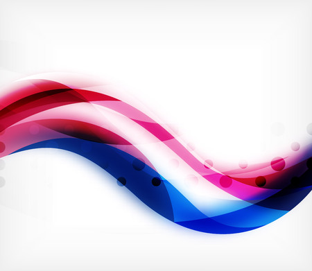 Vector colorful wavy stripe on white background with blurred effects. 向量圖像