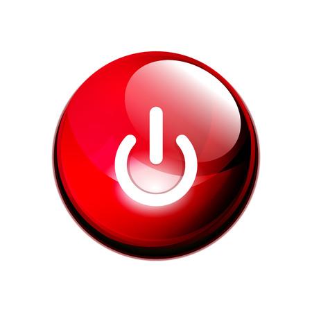 Power button icon, start symbol Stock Photo