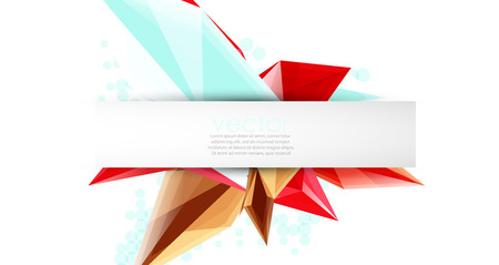 Colorful blooming crystals vector abstract background.