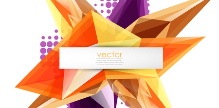Colorful blooming crystals vector abstract background Иллюстрация