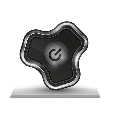 Techno futuristic start power button illustration.
