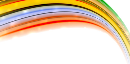 Abstract flowing motion wave, liquid colors, vector abstract background with light dots effect