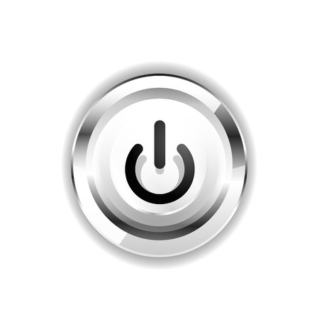 Power button icon Stock Illustratie