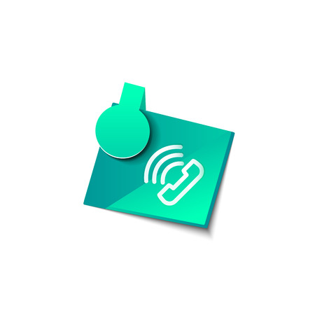 Vector phone support web button Ilustração