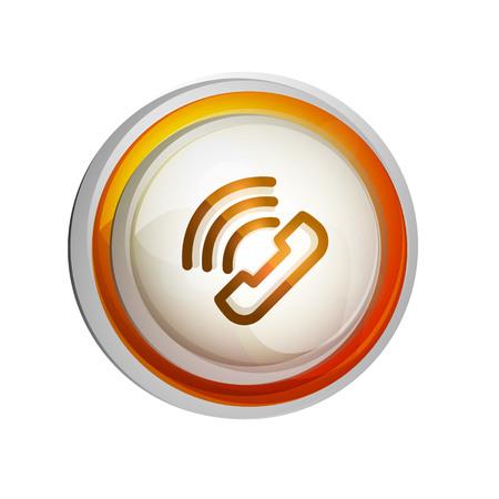 Phone support call center button, web icon design 일러스트