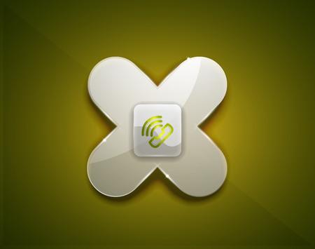 Phone support call centre button, web icon design.