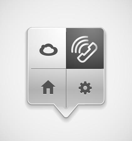 Vector phone support web button Иллюстрация
