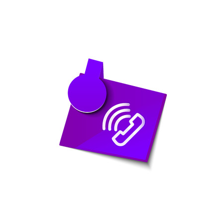Vector phone support web button Illustration