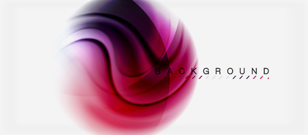 Swirl fluid flowing colors motion effect, holographic abstract background. Vector illustration Illustration