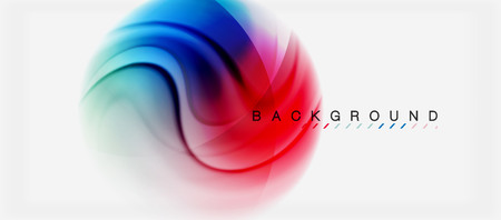 Swirl fluid flowing colors motion effect, holographic abstract background. Vector illustration Vector Illustration