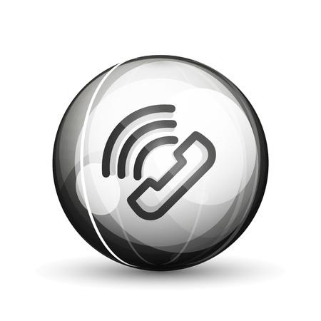 Phone support call center button, web icon design Ilustração