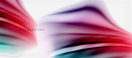 Blurred fluid colors background, abstract waves lines, mixing colors with light effects on light backdrop. Vector artistic illustration for presentation, app wallpaper, banner or posters.