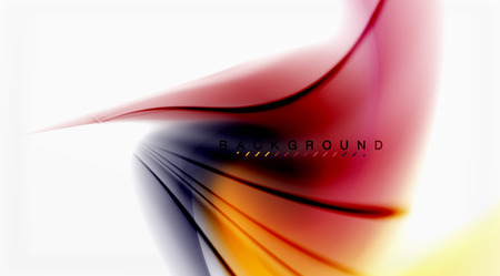Swirl fluid flowing colors motion effect, holographic abstract background. Illustration