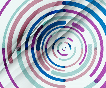 Circular lines circles, geometric abstract background. Vector illustration Illustration