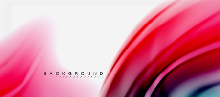Blurred fluid colors background, abstract waves lines, vector illustration. Illustration