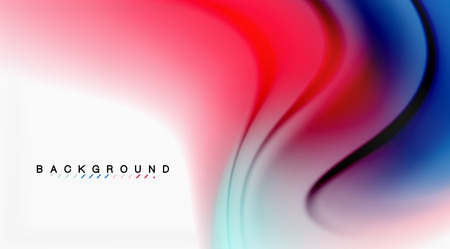 Swirl fluid flowing colors motion effect, holographic abstract background. 일러스트