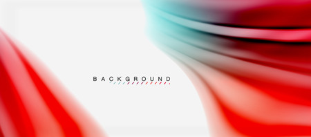 Blurred fluid colors background, abstract waves lines, vector illustration 免版税图像 - 101285995