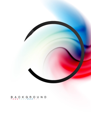 Swirl fluid flowing colors motion effect, holographic abstract background. Vector illustration Vetores