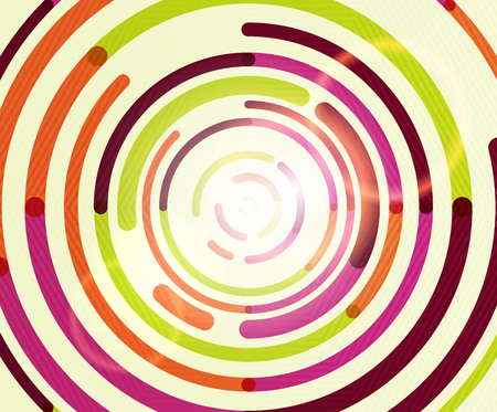 Circular lines circles, geometric abstract background. Vector illustration  イラスト・ベクター素材